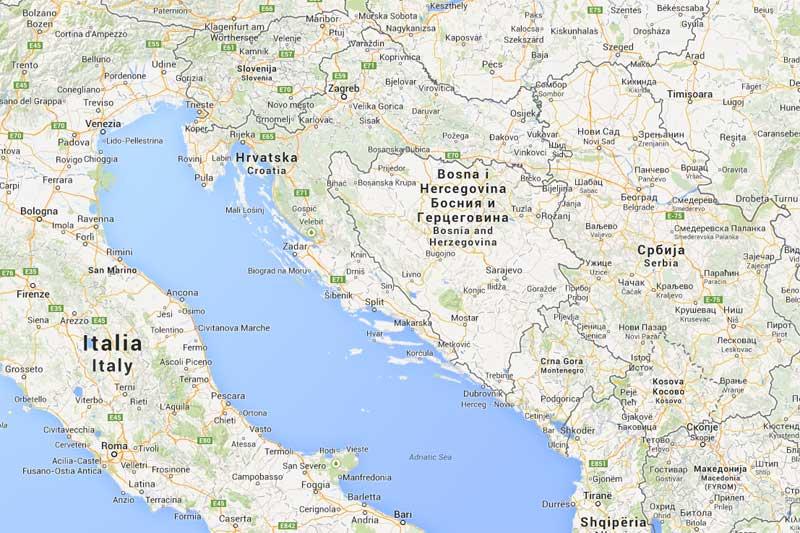 Italia Croazia Cartina.Caccia In Croazia